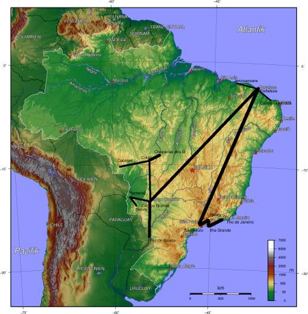 Brasilien-Karte_bisherigeRoute